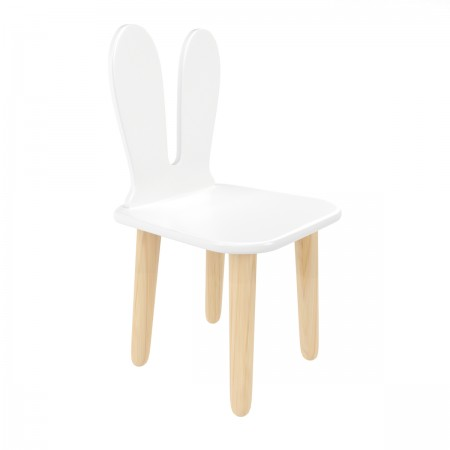 Детский стул Уши зайца белый, Bambini Letto