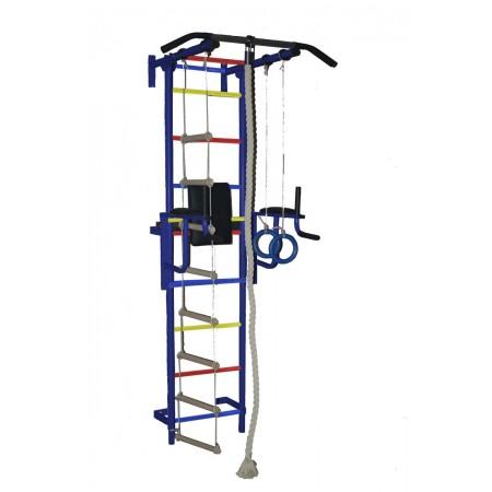 Детский спортивный комплекс «Крепыш плюс» пристенный с брусьями - 1 Металл, Малышспорт