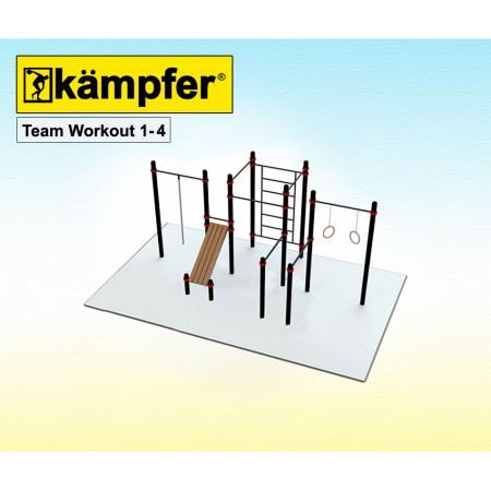Воркаут площадка Kampfer Team Workout 1-4, Kampfer