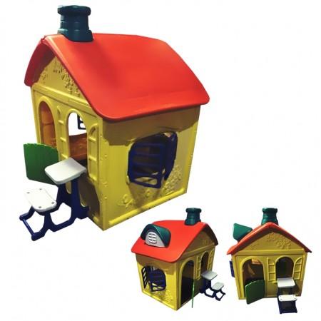 Детский игровой домик Замок пластиковый ОТ-16, Малышспорт