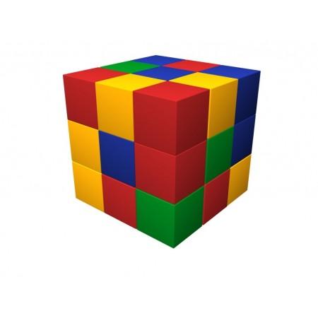 Игровой комплекс Мягкий конструктор Кубик-рубик ДМФ-МК-27.90.13, Малышспорт