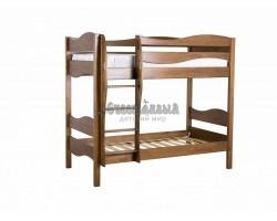 Двухъярусная кровать для детей из массива сосны Ладушка Волна