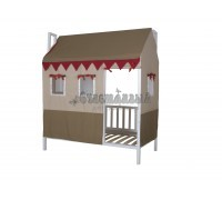 Кровать с крышей Домовёнок-2