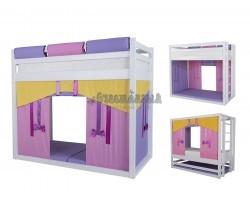 Кровать чердак для девочки с игровой зоной Жасмин
