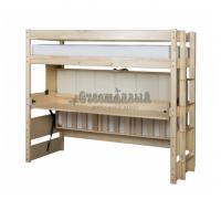 Двухъярусная кровать трансформер со столом Знайка Эко