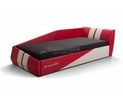 Кровать ФОРСАЖ ИК Eco style красный/белый