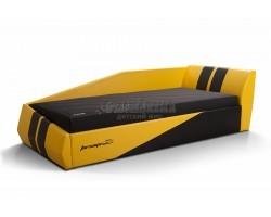 Кровать ФОРСАЖ ИК Eco style желтый/черный