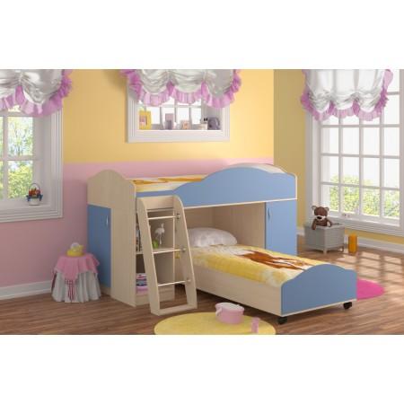 Двухъярусная Кровать Дюймовочка-5.1, Формула Мебели