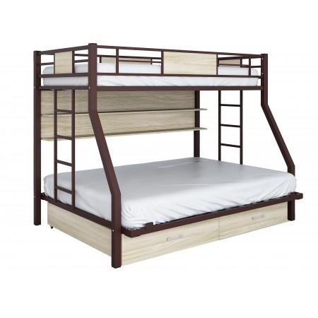 Двухъярусная кровать Гранада ПЯЯ 140, Формула Мебели