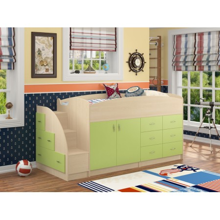 Кровать-чердак Дюймовочка-4, Формула Мебели
