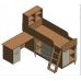 Кровать чердак Дюймовочка 1, Формула Мебели
