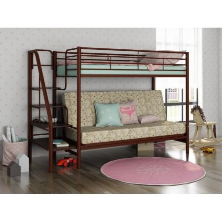 Двухъярусная кровать с диваном Мадлен-3, Формула Мебели