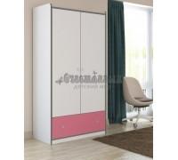 Шкаф Дельта Сильвер 9 2-х дверный с ящиками