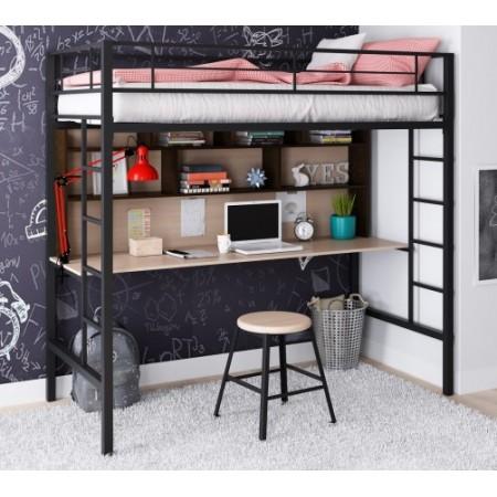 Кровать-чердак Севилья - 1.2 с рабочей поверхностью, Формула Мебели