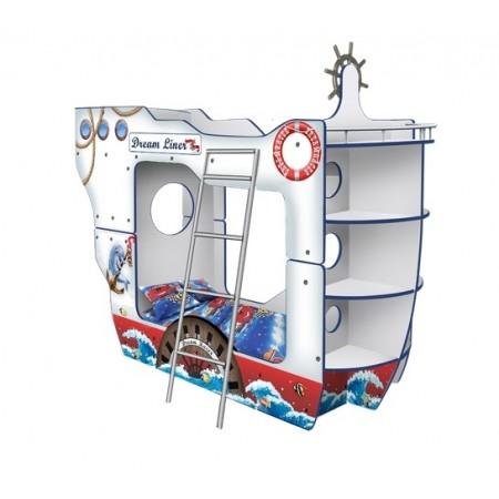 Двухъярусная Кровать в виде корабля Дрим Лайнер, Carobus