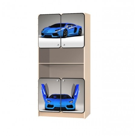 Carobus стеллаж распашной - СуперКар синий  , Carobus