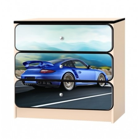 Carobus комод - Порше синий багажник, Carobus