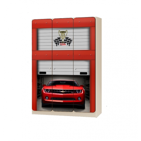 Carobus шкаф детский трёхстворчатый Комаро красный, Carobus