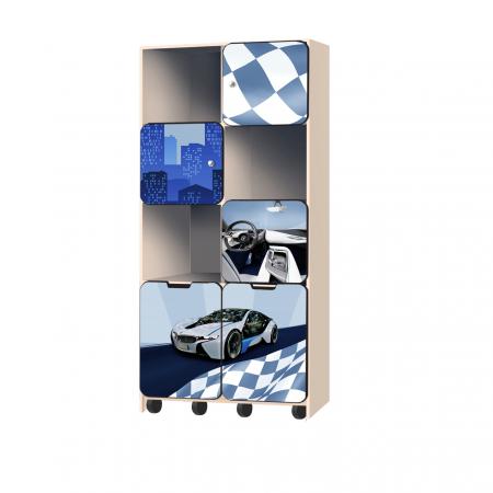 Carobus стеллаж с выкатными ящиками - БиЭм  синий, Carobus