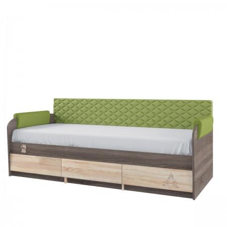 Кровать односпальная 12М Серия 4.14, Мебельная фабрика Корвет
