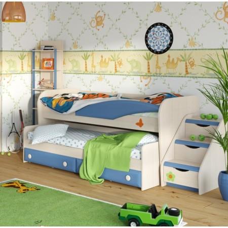 Кровать двухъярусная с выкатным местом №36, Мебельная фабрика Корвет