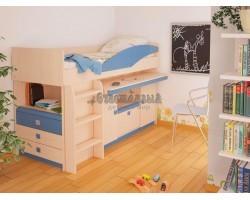 Детская кровать чердак с выдвижным столом МДК 4.1.2