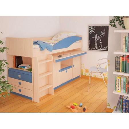Детская кровать чердак  4.1.2, Мебельная фабрика Корвет