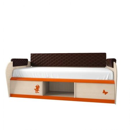 Детская односпальная кровать с ящиками 12.2М Серия 4.13, Мебельная фабрика Корвет