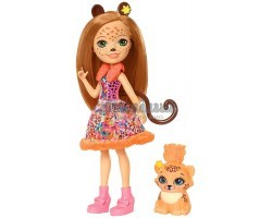 Кукла Энчантималс Чериш - девочка Гепард с питомцем