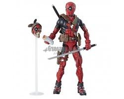 Дедпул красный с оружием и масками (30.5 см)