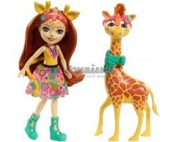 Кукла Энчантималс Джилиан - девочка жираф с питомцем