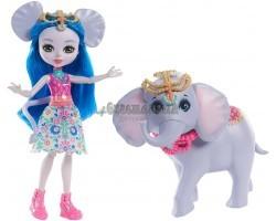 Кукла Энчантималс Екатерина - девочка слоник с питомцем