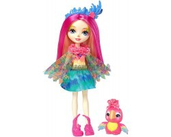 Кукла Энчентималс Пикки - Девочка Попугай - Peeki Parrot Doll & Sheeny