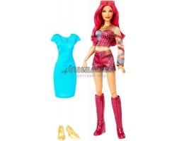Саша Бэнкс с голубым платьем - WWE Superstars Sasha Banks