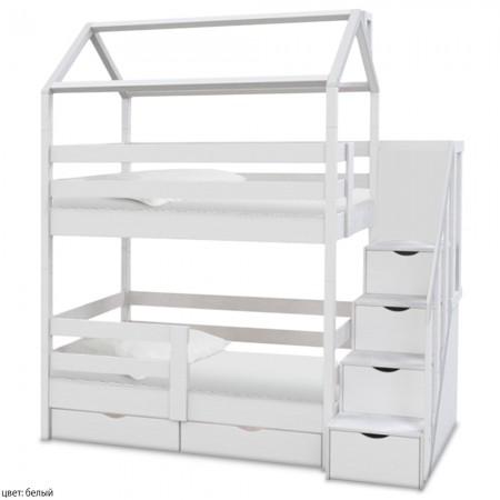 Двухъярусная кровать в виде домика Блум, ВМК-Шале