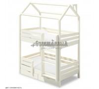 Двухъярусная кровать домик для детей Твинкл