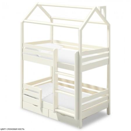 Двухъярусная кровать домик для детей Твинкл, ВМК-Шале
