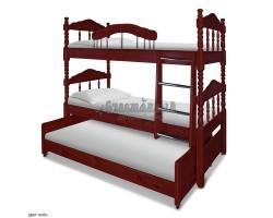 """Трехъярусная кровать """"Альбион"""" (двухъярусная + третье место выкатное)"""