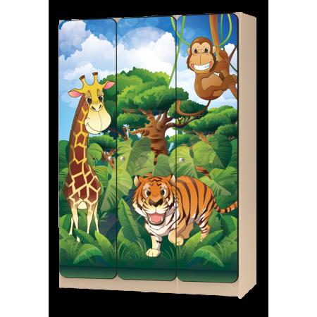 Carobus шкаф детский трёхстворчатый Африка, Carobus