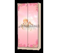 Шкаф детский «Ангел» розовый
