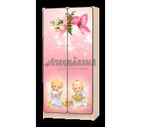 Шкаф детский «Ангелочки» розовый