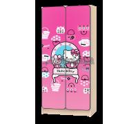 Шкаф детский «Китти Хеллоу» розовый