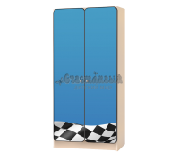 Шкаф детский «Флаг» синий