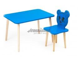 Комплект детской мебели Джери с голубым столиком