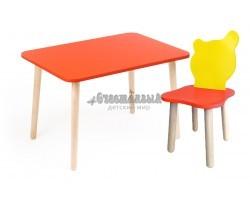 Комплект детской мебели Джери с красно-желтым стульчиком