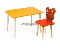 Комплект детской мебели Джери с оранжевым столиком и красным стулом