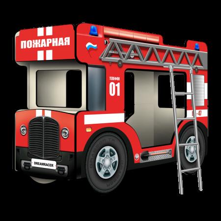 """Двухъярусная кровать-Автобус СлипинБас """"Пожарный"""", Carobus"""