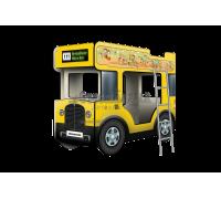 """Двухъярусная кровать-Автобус СлипинБас """"Школьный"""" жёлтый"""