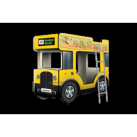 """Двухъярусная кровать-Автобус СлипинБас """"Школьный"""" жёлтый, Carobus"""