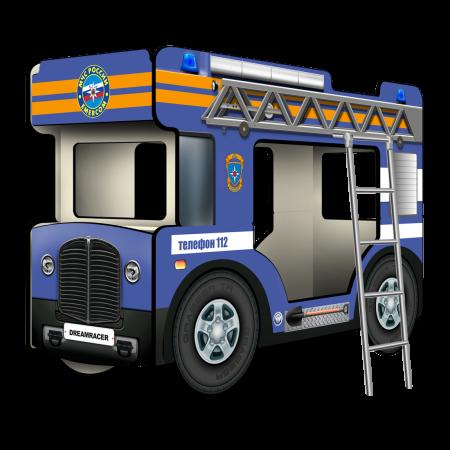 """Двухъярусная кровать-Автобус СлипинБас """"МЧС"""" синий, Carobus"""